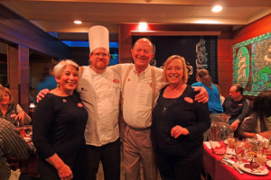 Chef Ashley (2nd from left) with Marsha Poulson Food and Beverage Manager Kalaloch Lodge and Charles and Rose Ann Finkel of Pike's Brewery