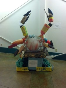 Crab sculpture by Sarah Tucker