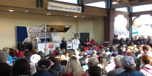 "Graham Kerr ""The Galloping Gourmet"" wows the crowd at the chef's demonstrations!"
