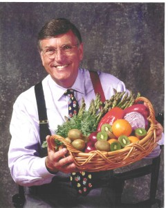 Graham Kerr pic w food basket